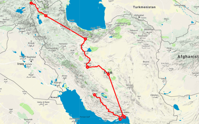 iran-route tips for traveling to iran
