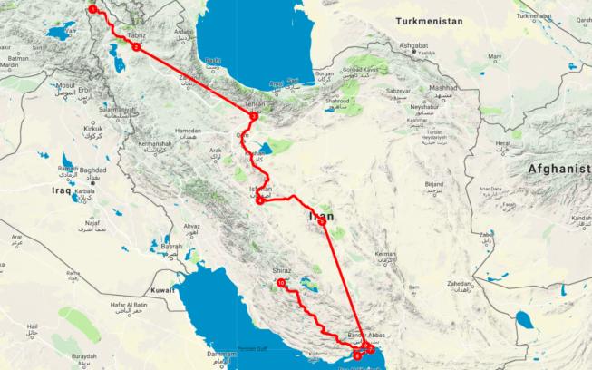 iran-route