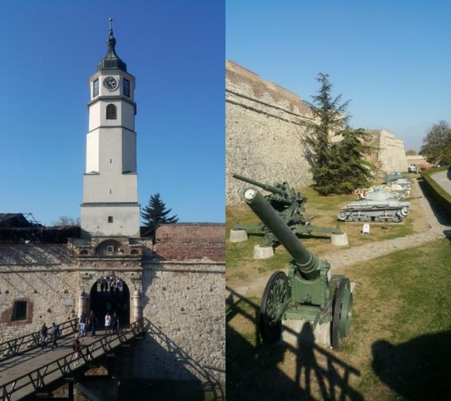 Saat kulesi ve savaş döneminde kullanılan araçların sergilendiği askeri müze
