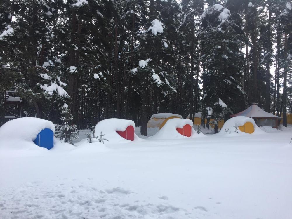 doğaya dönüş ve kar kampı