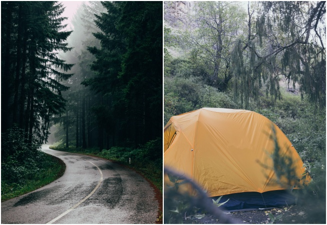 Yağmurda Kamp