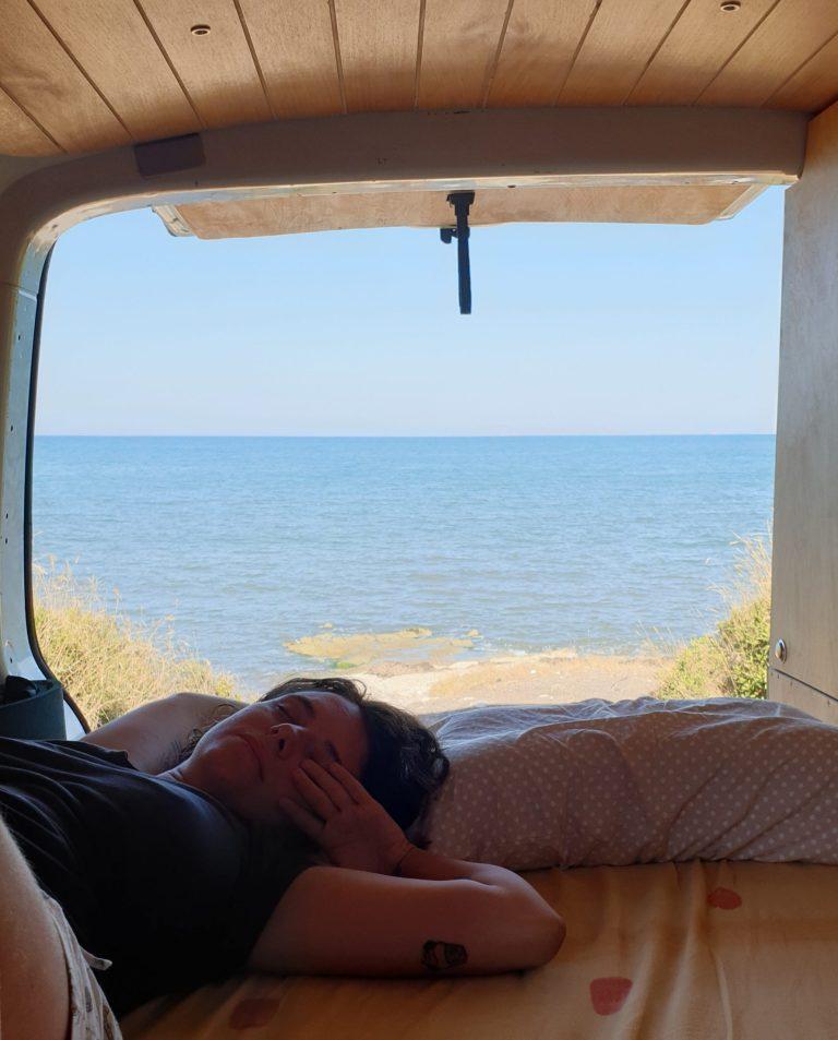 Aegean caravan route camping view